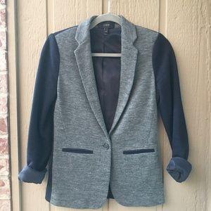 J.Crew Blazer size 00 Gray and Navy Wool & Cotton